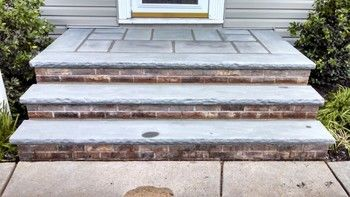 Brick and Stone Steps Construction