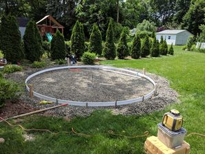 Circle Concrete Patio Installation in Clifton, NJ (1)