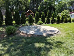 Circle Concrete Patio Installation in Clifton, NJ (2)